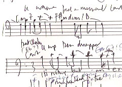 An Early Sketch of the Score