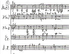 Fragment from the score